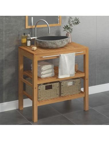Vonios spintelės kompl., tikmedžio medienos masyvas, 74x45x75cm | Vonios Spintelės | duodu.lt