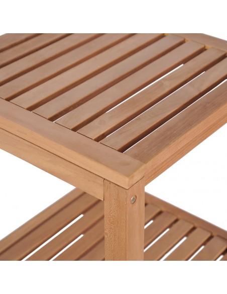 Dvivietis suoliukas su staliuku, poliratanas, rudas  | Lauko Baldų Komplektai | duodu.lt