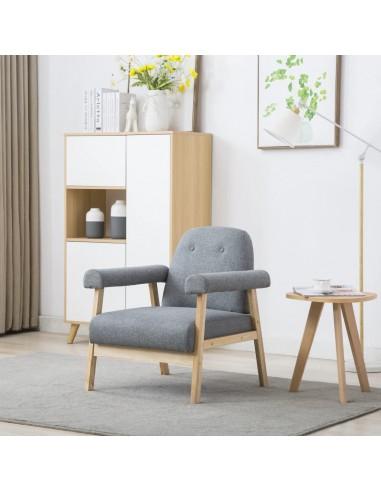 Krėslas, audinys, šviesiai pilkas | Foteliai, reglaineriai ir išlankstomi krėslai | duodu.lt
