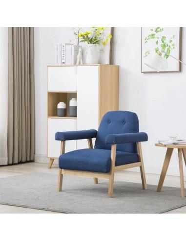 Krėslas, audinys, mėlynas | Foteliai, reglaineriai ir išlankstomi krėslai | duodu.lt