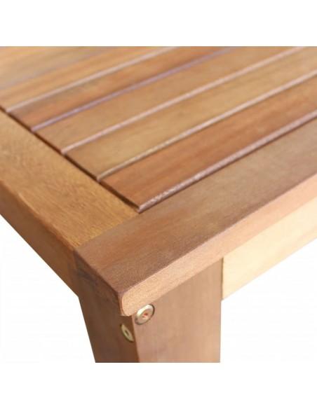 Dvivietis saulės gultas, medinis, baltas, 200x188x42cm | Šezlongai | duodu.lt
