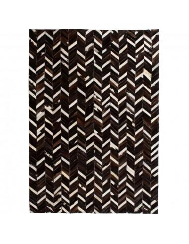 Kilimas, tikros odos, skiaut., 160x230cm, juost., juodas/baltas  | Kilimėliai | duodu.lt