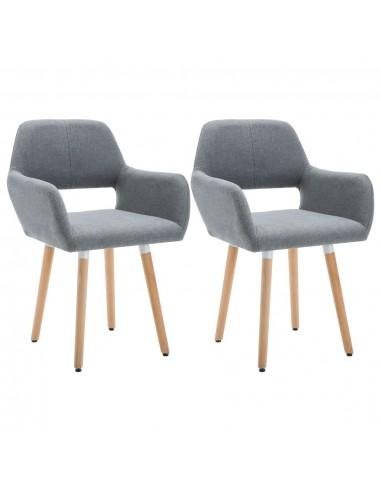 Valgomojo kėdės, 2vnt., aud. apmuš., 56x54x80cm, šviesiai pilk. | Virtuvės ir Valgomojo Kėdės | duodu.lt