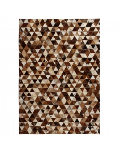 Kilimas, tikros odos, skiaut., 120x170 cm, trikamp., rud./balt.  | Kilimėliai | duodu.lt