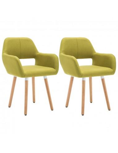 Valgomojo kėdės, 2vnt., aud. apmuš., 56x54x80cm, žalios | Virtuvės ir Valgomojo Kėdės | duodu.lt