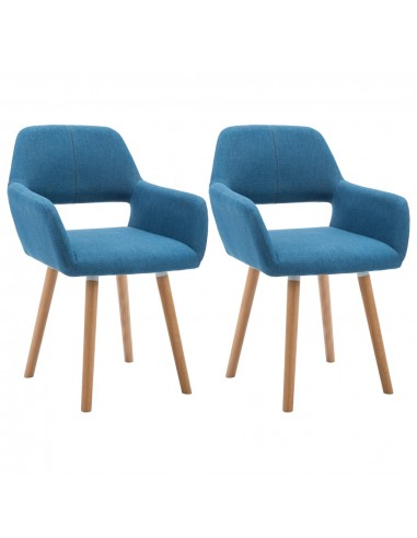 Valgomojo kėdės, 2vnt., aud. apmuš., 56x54x80cm, mėlynos   Virtuvės ir Valgomojo Kėdės   duodu.lt