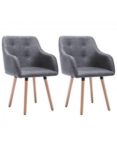 Valgomojo kėdės, 2vnt., aud. apmuš., 55x55x84cm, šviesiai pilk.   Virtuvės ir Valgomojo Kėdės   duodu.lt