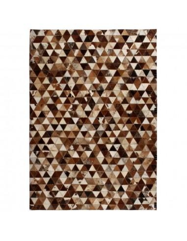 Kilimas, tikros odos, skiaut., 160x230 cm, trikamp., rud./balt.    Kilimėliai   duodu.lt