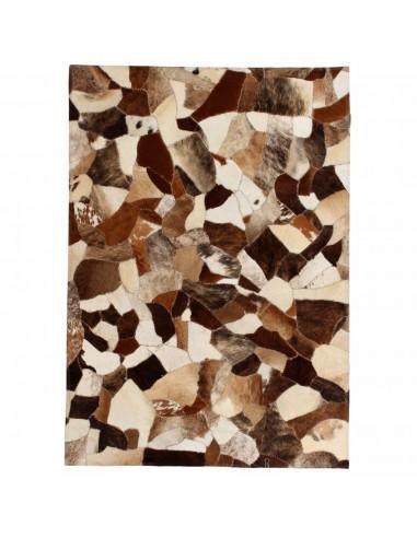 Kilimas, tikros odos, skiaut., 80x150 cm, atsitikt. ruda/balta  | Kilimėliai | duodu.lt