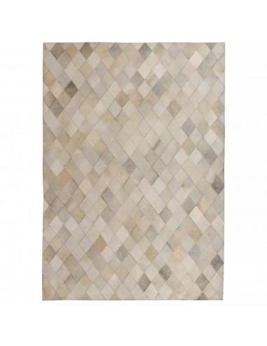 Kilimas, tikros odos, skiaut., 80x150cm, deimantinė pilka  | Kilimėliai | duodu.lt