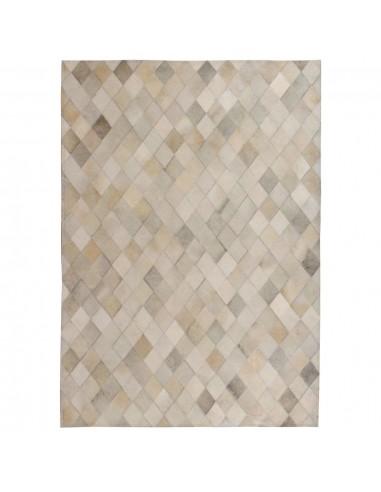 Kilimas, tikros odos, skiaut., 120x170cm, deimantinė pilka  | Kilimėliai | duodu.lt