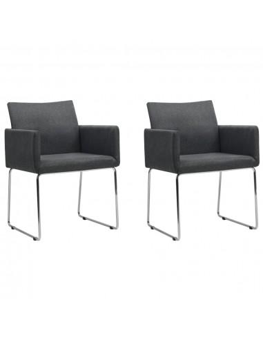 Valgomojo kėdės, 2 vnt., tamsiai pilkos | Virtuvės ir Valgomojo Kėdės | duodu.lt