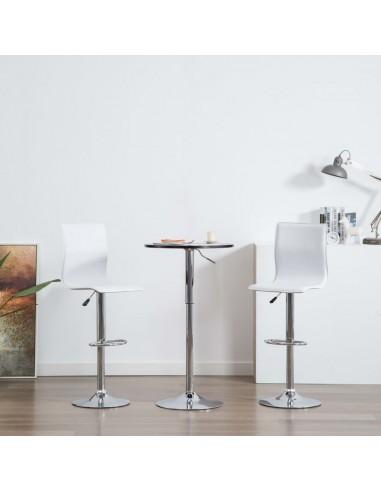 Baro kėdės, 2vnt., dirbtinė oda, baltos  | Stalai ir Baro Kėdės | duodu.lt