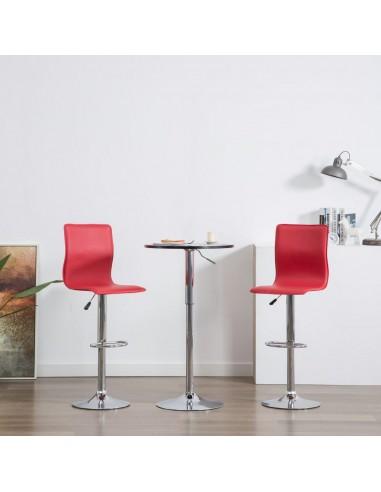 Baro kėdės, 2vnt., dirbtinė oda, raudonos  | Stalai ir Baro Kėdės | duodu.lt