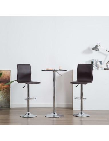 Baro kėdės, 2vnt., dirbtinė oda, rudos   Stalai ir Baro Kėdės   duodu.lt