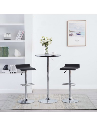 Baro taburetės, 2vnt., dirbtinė oda, juodos  | Stalai ir Baro Kėdės | duodu.lt