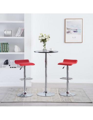 Baro taburetės, 2vnt., dirbtinė oda, raudonos | Stalai ir Baro Kėdės | duodu.lt