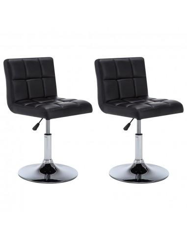 Besisuk. valgom. kėdės, 2vnt., dirbt. oda, 50x43x85cm, juodos    Virtuvės ir Valgomojo Kėdės   duodu.lt
