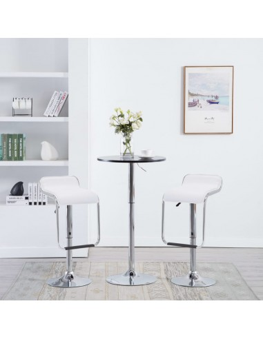Besisuk. baro tab., 2vnt., dirbt. oda, 34,5x50,5x89cm, baltos   Stalai ir Baro Kėdės   duodu.lt