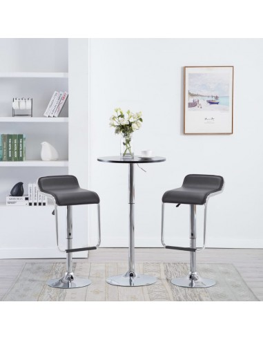 Besisuk. baro tab., 2vnt., dirbt. oda, 34,5x50,5x89cm, juod. | Stalai ir Baro Kėdės | duodu.lt