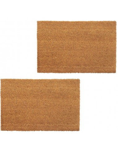 Durų kilimėliai, 2vnt., kokoso pluošt., 17mm, 50x80cm, nat. sp.   Durų Kilimėlis   duodu.lt