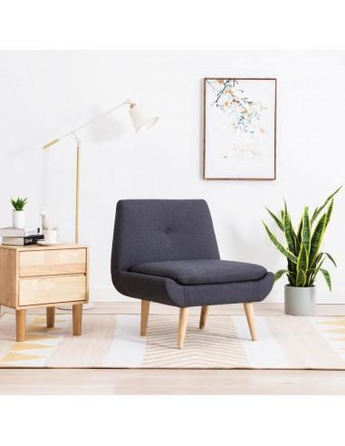 Fotelis, audinio apmušalas, 73x66x77cm, tamsiai pilkas | Foteliai be porankių | duodu.lt