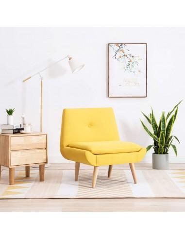 Fotelis, audinio apmušalas, 73x66x77cm, geltonas | Foteliai be porankių | duodu.lt