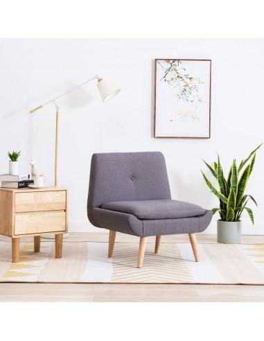 Fotelis, audinio apmušalas, 73x66x77cm, šviesiai pilkas   Foteliai be porankių   duodu.lt