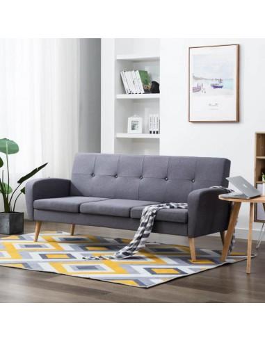Trivietė sofa, audinys, šviesiai pilka   Sofos   duodu.lt