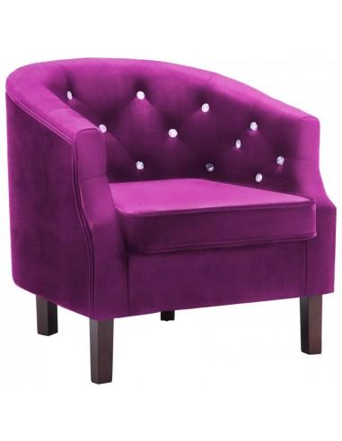 Krėslas, aksominis apmušalas, 65x64x65cm, violetinis   Foteliai, reglaineriai ir išlankstomi krėslai   duodu.lt