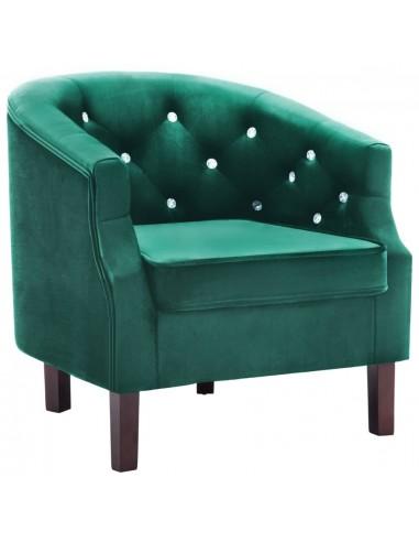Krėslas, aksominis apmušalas, 65x64x65cm, žalias | Foteliai, reglaineriai ir išlankstomi krėslai | duodu.lt