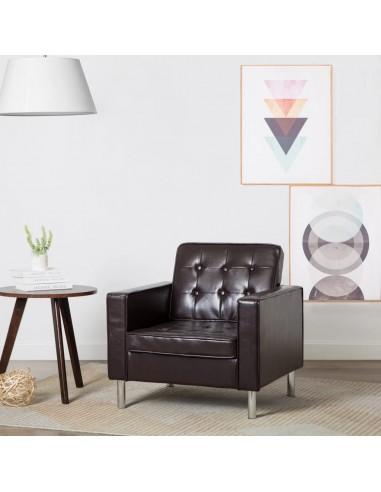 Krėslas, dirbtinės odos apmušalas, rudos spalvos, 75x70x75cm   Foteliai, reglaineriai ir išlankstomi krėslai   duodu.lt