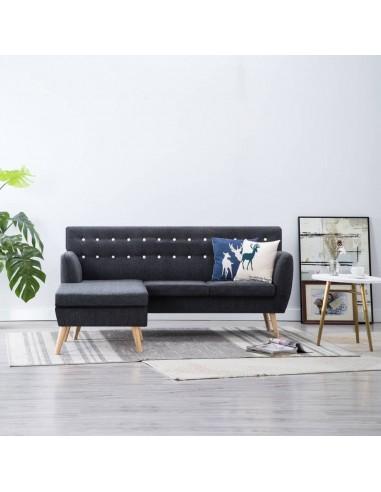 L-formos sofa, aud. apmušal., 171,5x138x81,5cm, tamsiai pilka   Sofos   duodu.lt