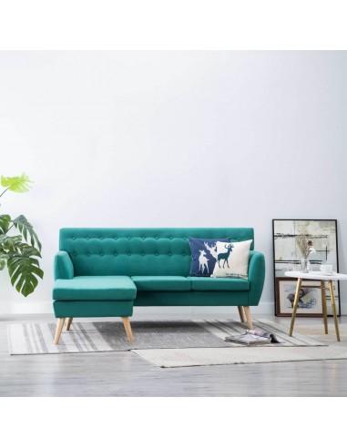 L-formos sofa, aud. apmušal., 171,5x138x81,5cm, žalia | Sofos | duodu.lt