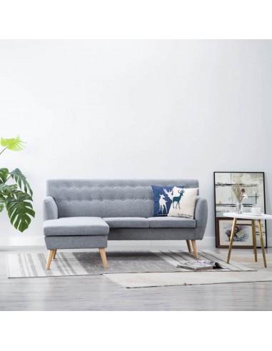 L-formos sofa, aud. apmušal., 171,5x138x81,5cm, šviesiai pilka   Sofos   duodu.lt