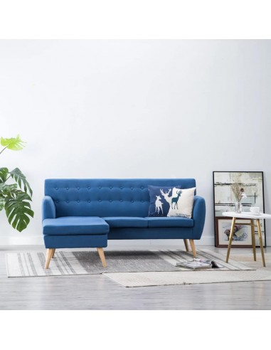 L-formos sofa, aud. apmušal., 171,5x138x81,5cm, mėlyna   Sofos   duodu.lt