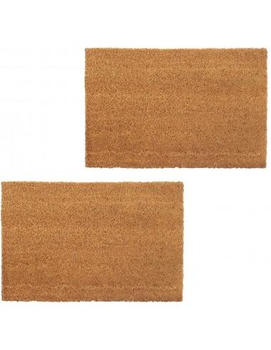 Durų kilimėliai, 2vnt., kokoso pluošt., 24mm, 40x60cm, nat. sp. | Durų Kilimėlis | duodu.lt