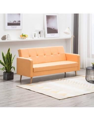 Sofa, audinys, geltona  | Sofos | duodu.lt