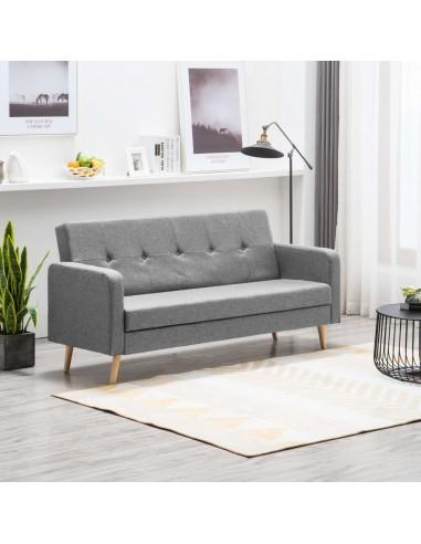 Sofa, audinys, šviesiai pilka   Sofos   duodu.lt