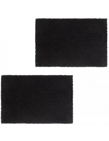 Durų kilimėliai, 2vnt., kokoso pluoštas, 17mm, 40x60cm, juodi | Durų Kilimėlis | duodu.lt