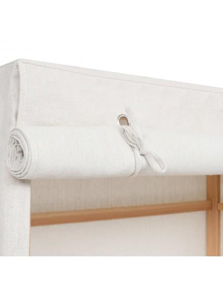 Lauko roletas, 300x140cm, antracito ir baltos spalvos dryžiai   | Žaliuzės ir Užuolaidos | duodu.lt