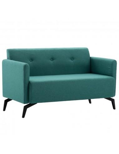 Dvivietė sofa, audinio apmušalas, 115x60x67cm, žalia    Sofos   duodu.lt