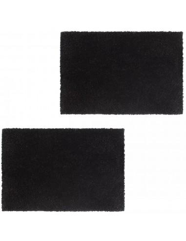Durų kilimėliai, 2 vnt., kokoso pluoštas, 24mm, 50x80cm, juodi | Durų Kilimėlis | duodu.lt