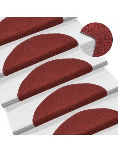 Lipnūs laiptų kilimėliai, 15 vnt., 54x16x4 cm, raudoni | Kilimėliai | duodu.lt