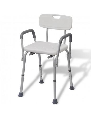Dušo Kėdutė iš Aliuminio, Balta | Dušo suoliukai ir sėdynės | duodu.lt