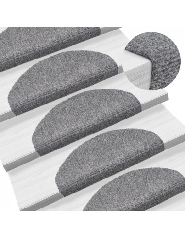 Lipnūs laiptų kilimėliai, 15 vnt., 65 x 21 x 4 cm, šv. pilki | Kilimėliai | duodu.lt