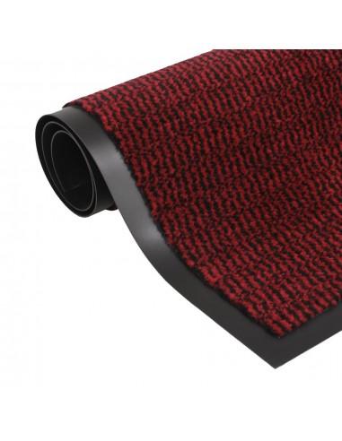 Durų kilimėlis, kvadratinis, dygsniuotas, 90x150cm, raudonas   Durų Kilimėlis   duodu.lt