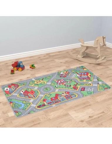 Žaidimų kilimėlis, kilp. pūkas, 133x190cm, miesto kelio diz.   Žaidimo ir pratimų kilimėliai   duodu.lt