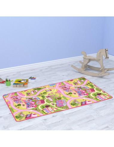 Žaidimų kilimėlis, kilp. pūkas, 100x165cm, gražaus miesto diz.   Žaidimo ir pratimų kilimėliai   duodu.lt