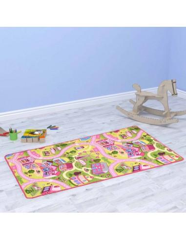 Žaidimų kilimėlis, kilp. pūkas, 190x290cm, gražaus miesto diz.   Žaidimo ir pratimų kilimėliai   duodu.lt